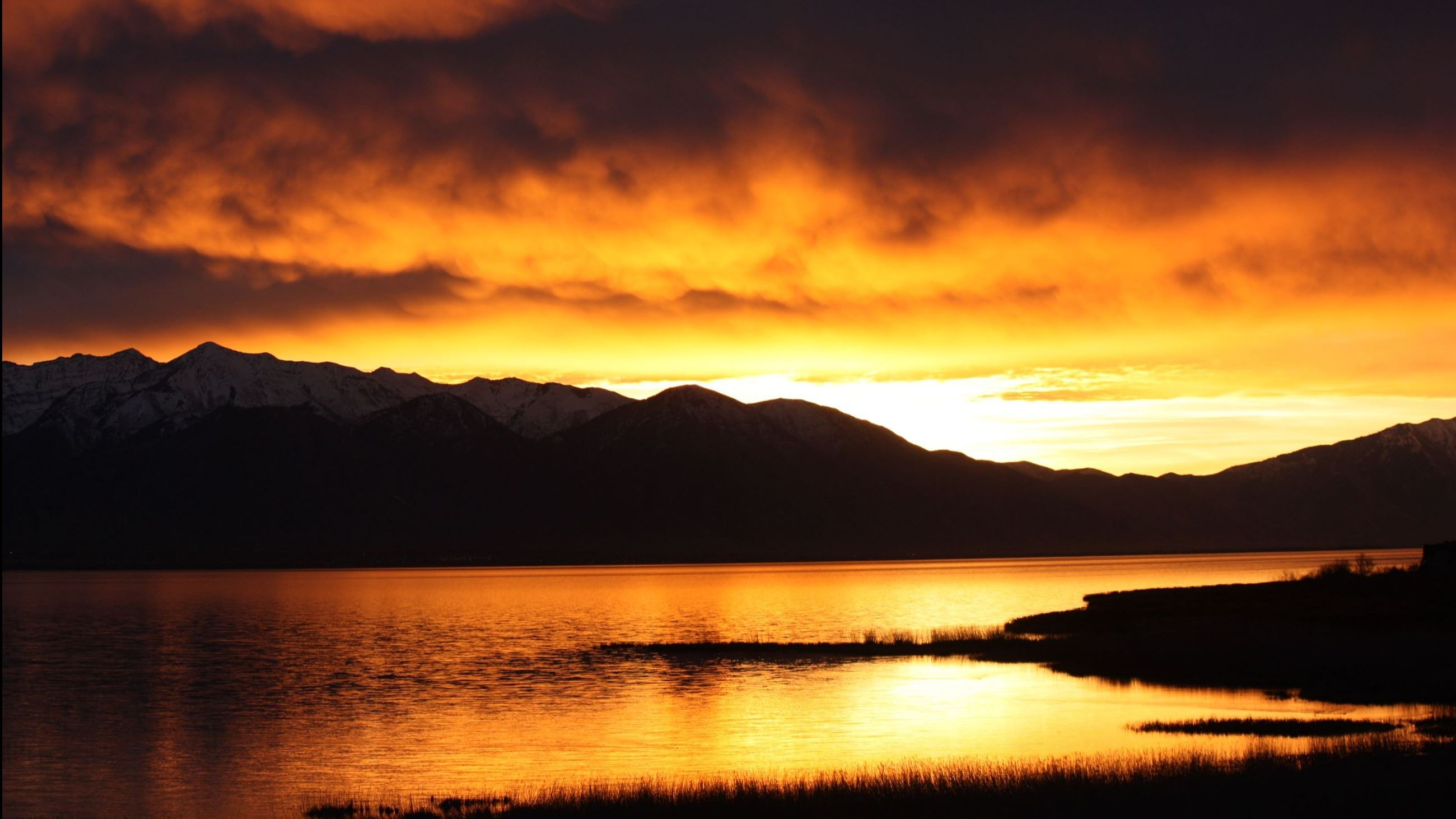 Aubree Gerber- Utah Lake at Sunset